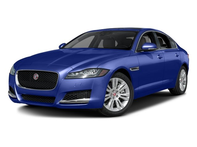 Caesium Blue Metallic 2017 Jaguar XF Pictures XF Sedan 4D 35t Premium AWD V6 Sprchrd photos front view