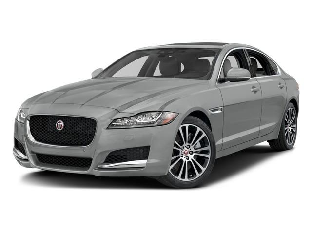Rhodium Silver Metallic 2017 Jaguar XF Pictures XF 35t Prestige AWD photos front view