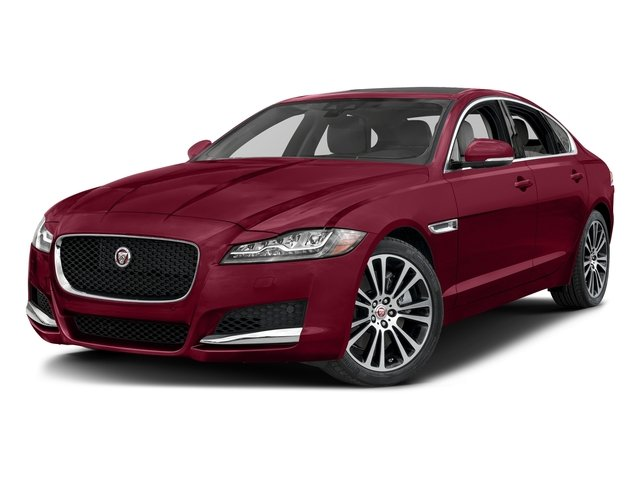 Odyssey Red Metallic 2017 Jaguar XF Pictures XF 20d Prestige AWD photos front view
