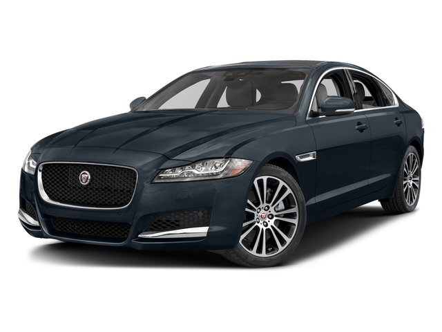 Dark Sapphire Metallic 2017 Jaguar XF Pictures XF 20d Prestige AWD photos front view