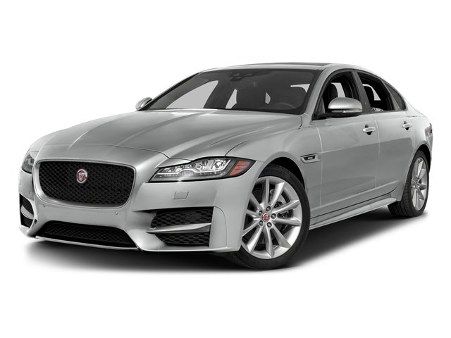 Rhodium Silver Metallic 2017 Jaguar XF Pictures XF 35t R-Sport RWD photos front view