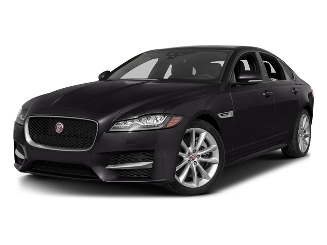 Ultimate Black Metallic 2017 Jaguar XF Pictures XF 35t R-Sport RWD photos front view