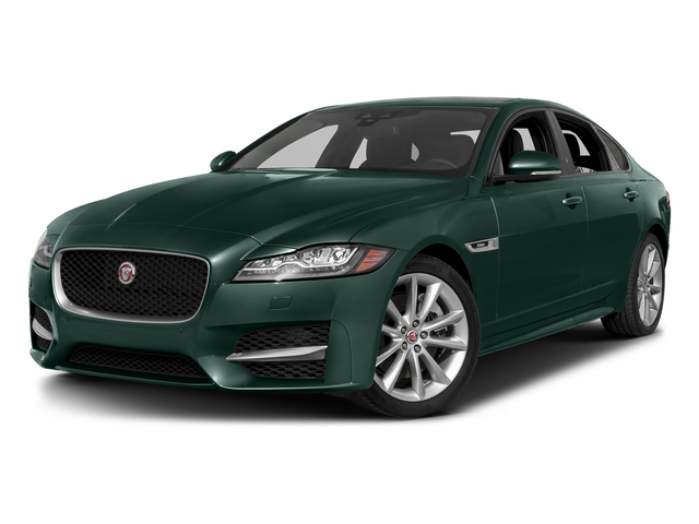 British Racing Green Metallic 2017 Jaguar XF Pictures XF 35t R-Sport RWD photos front view
