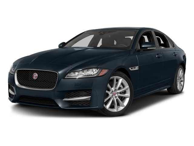 Dark Sapphire Metallic 2017 Jaguar XF Pictures XF 35t R-Sport RWD photos front view