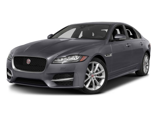 Tempest Gray 2017 Jaguar XF Pictures XF 35t R-Sport RWD photos front view