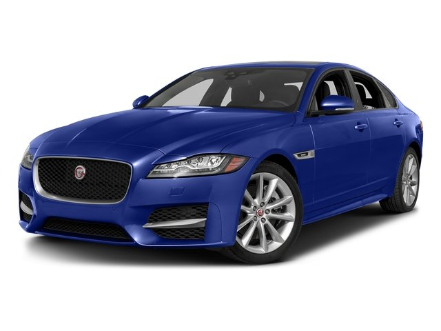 Caesium Blue Metallic 2017 Jaguar XF Pictures XF 35t R-Sport RWD photos front view