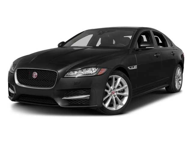 Cosmic Black 2017 Jaguar XF Pictures XF 35t R-Sport RWD photos front view