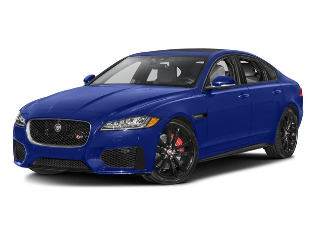 Caesium Blue Metallic 2017 Jaguar XF Pictures XF S RWD photos front view