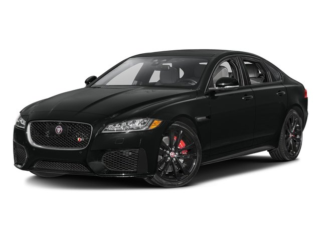 Cosmic Black 2017 Jaguar XF Pictures XF S RWD photos front view