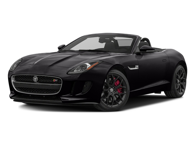 Ultimate Black Metallic 2017 Jaguar F-TYPE Pictures F-TYPE Convertible Manual S photos front view