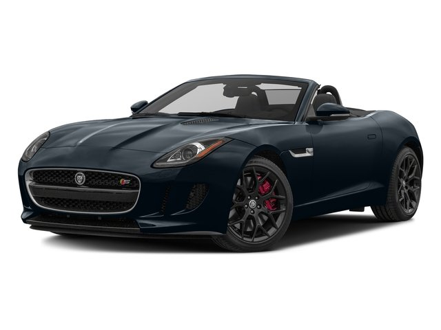 Dark Sapphire Metallic 2017 Jaguar F-TYPE Pictures F-TYPE Convertible Manual S photos front view