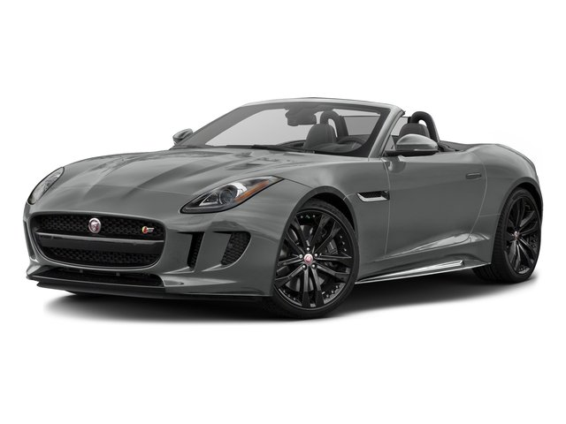 Rhodium Silver Metallic 2017 Jaguar F-TYPE Pictures F-TYPE Convertible 2D S AWD V6 photos front view