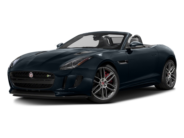 Dark Sapphire Metallic 2017 Jaguar F-TYPE Pictures F-TYPE Convertible 2D R AWD V8 photos front view