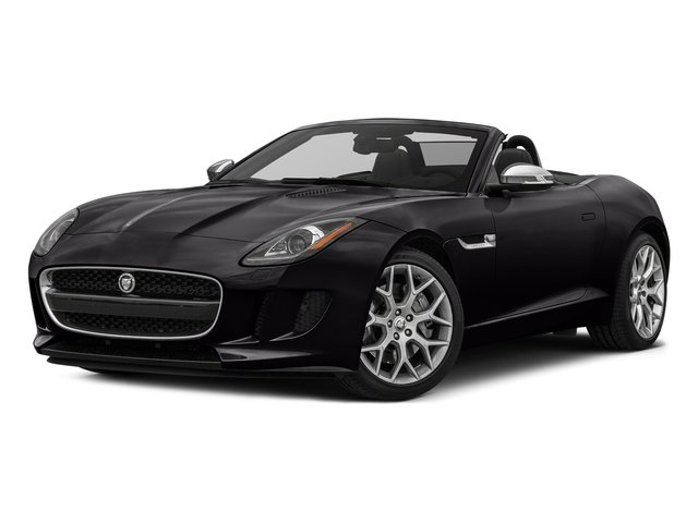 Ultimate Black Metallic 2017 Jaguar F-TYPE Pictures F-TYPE Convertible 2D Premium V6 photos front view