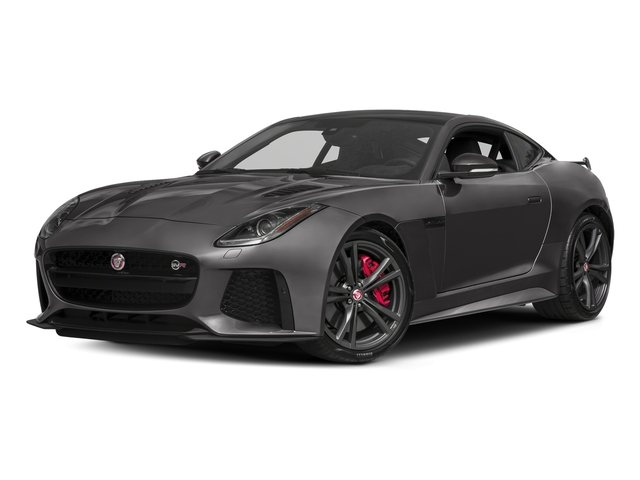 Ammonite Grey Metallic 2017 Jaguar F-TYPE Pictures F-TYPE Coupe 2D SVR AWD V8 photos front view