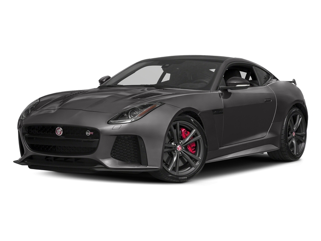 Ammonite Grey Metallic 2017 Jaguar F-TYPE Pictures F-TYPE Coupe Auto SVR AWD photos front view