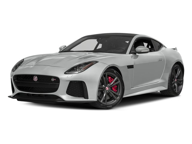 Rhodium Silver Metallic 2017 Jaguar F-TYPE Pictures F-TYPE Coupe 2D SVR AWD V8 photos front view