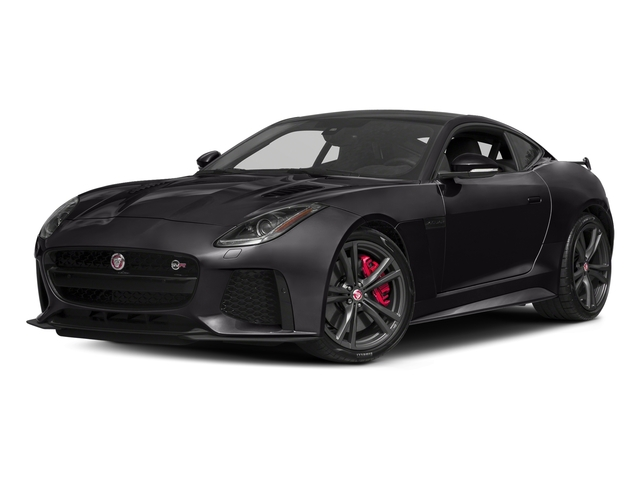 Ultimate Black Metallic 2017 Jaguar F-TYPE Pictures F-TYPE Coupe Auto SVR AWD photos front view