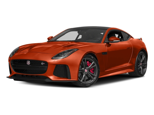 Firesand Metallic 2017 Jaguar F-TYPE Pictures F-TYPE Coupe Auto SVR AWD photos front view