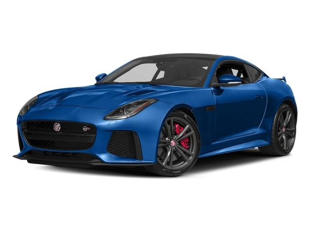 Ultra Blue Metallic 2017 Jaguar F-TYPE Pictures F-TYPE Coupe 2D SVR AWD V8 photos front view