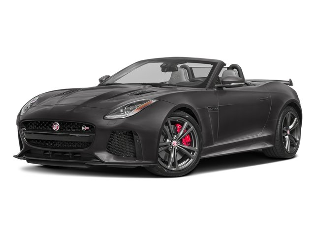 Ammonite Grey Metallic 2017 Jaguar F-TYPE Pictures F-TYPE Convertible 2D SVR AWD V8 photos front view
