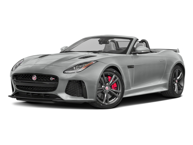 Rhodium Silver Metallic 2017 Jaguar F-TYPE Pictures F-TYPE Convertible 2D SVR AWD V8 photos front view