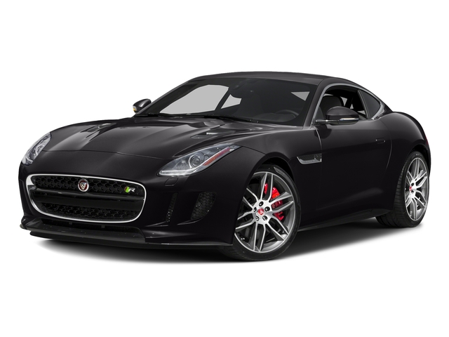 Ultimate Black Metallic 2017 Jaguar F-TYPE Pictures F-TYPE Coupe 2D R AWD V8 photos front view