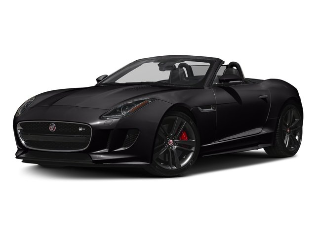 Ultimate Black Metallic 2017 Jaguar F-TYPE Pictures F-TYPE Convertible Auto S British Design Edition photos front view