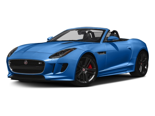 Ultra Blue Metallic 2017 Jaguar F-TYPE Pictures F-TYPE Conv 2D S British Design Edition AWD photos front view