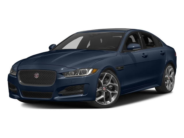 Dark Sapphire Metallic 2017 Jaguar XE Pictures XE Sedan 4D 25t I4 Turbo photos front view