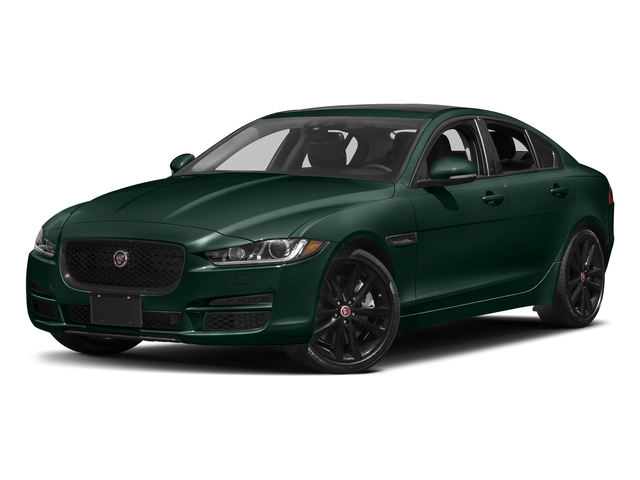 British Racing Green Metallic 2017 Jaguar XE Pictures XE 35t Premium AWD photos front view