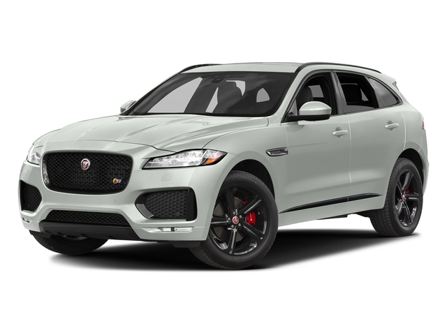 Polaris White 2017 Jaguar F-PACE Pictures F-PACE Utility 4D S AWD V6 photos front view