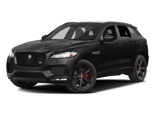 Ultimate Black Metallic 2017 Jaguar F-PACE Pictures F-PACE Utility 4D S AWD V6 photos front view