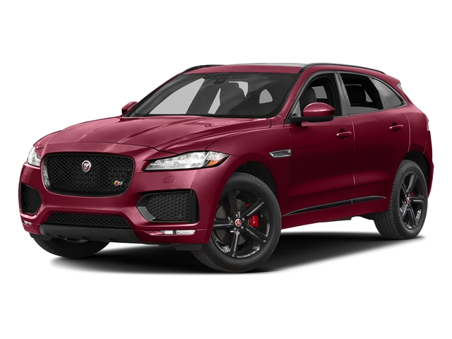 Odyssey Red Metallic 2017 Jaguar F-PACE Pictures F-PACE Utility 4D S AWD V6 photos front view