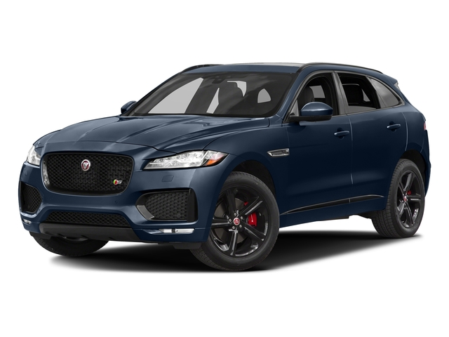 Dark Sapphire Metallic 2017 Jaguar F-PACE Pictures F-PACE Utility 4D S AWD V6 photos front view