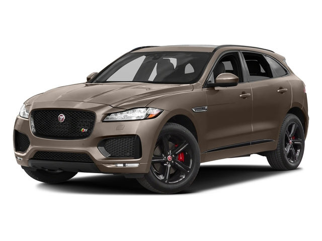 Quartzite Metallic 2017 Jaguar F-PACE Pictures F-PACE Utility 4D S AWD V6 photos front view