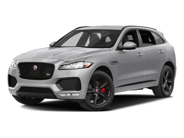 Glacier White Metallic 2017 Jaguar F-PACE Pictures F-PACE Utility 4D S AWD V6 photos front view