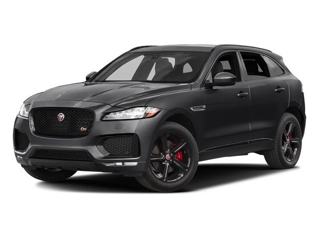 Storm Grey 2017 Jaguar F-PACE Pictures F-PACE Utility 4D S AWD V6 photos front view