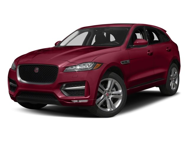 Odyssey Red Metallic 2017 Jaguar F-PACE Pictures F-PACE Utility 4D 35t R-Sport AWD V6 photos front view