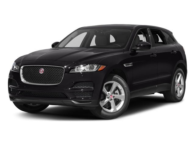 Ultimate Black Metallic 2017 Jaguar F-PACE Pictures F-PACE 35t Prestige AWD photos front view