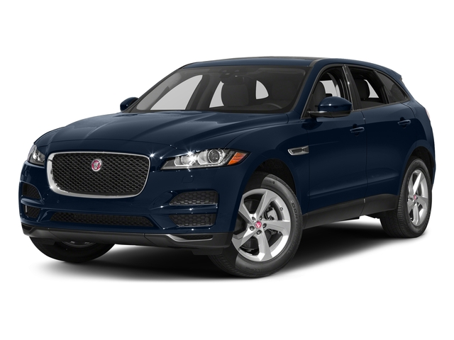 Dark Sapphire Metallic 2017 Jaguar F-PACE Pictures F-PACE 35t Prestige AWD photos front view