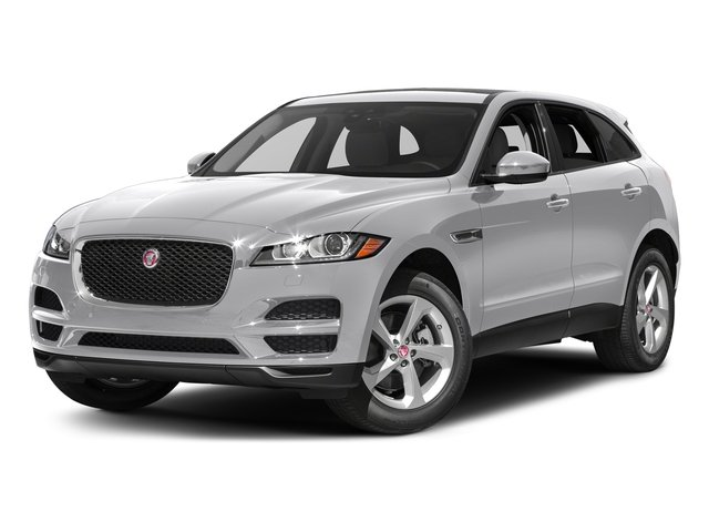 Glacier White Metallic 2017 Jaguar F-PACE Pictures F-PACE 35t Prestige AWD photos front view