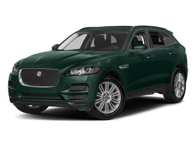 British Racing Green Metallic 2017 Jaguar F-PACE Pictures F-PACE 20d Prestige AWD photos front view