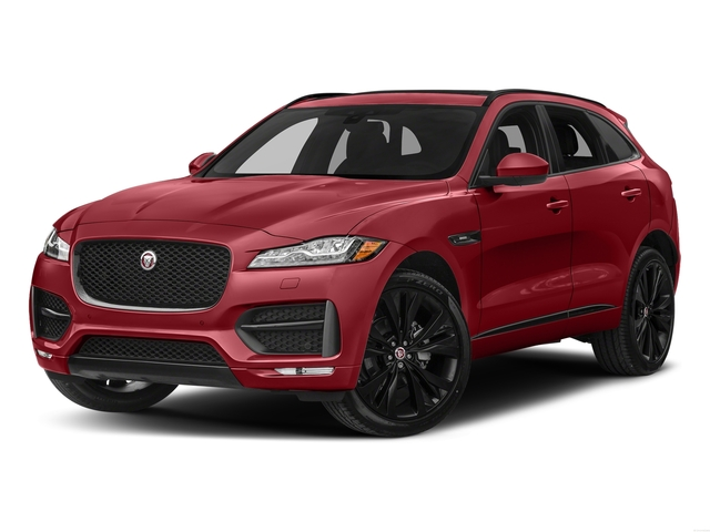 Italian Racing Red Metallic 2017 Jaguar F-PACE Pictures F-PACE Utility 4D 20d R-Sport AWD I4 T-Dsl photos front view