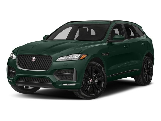 British Racing Green Metallic 2017 Jaguar F-PACE Pictures F-PACE Utility 4D 20d R-Sport AWD I4 T-Dsl photos front view