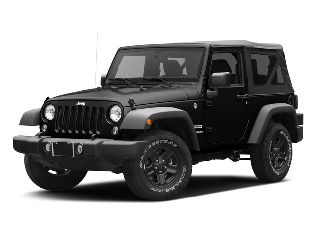 Black Clearcoat 2017 Jeep Wrangler Pictures Wrangler Sport 4x4 photos front view