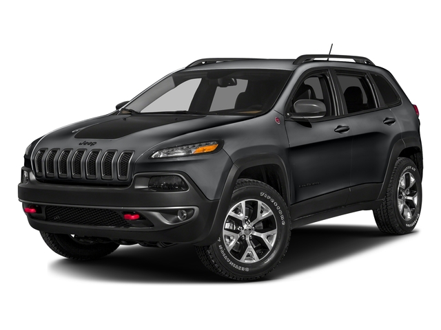Granite Crystal Metallic Clearcoat 2017 Jeep Cherokee Pictures Cherokee Trailhawk 4x4 *Ltd Avail* photos front view