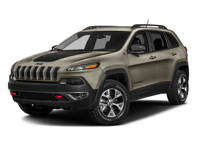 Light Brownstone Pearlcoat 2017 Jeep Cherokee Pictures Cherokee Trailhawk 4x4 *Ltd Avail* photos front view