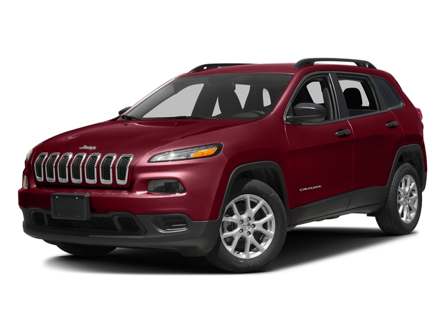 Deep Cherry Red Crystal Pearlcoat 2017 Jeep Cherokee Pictures Cherokee Utility 4D Sport 2WD photos front view