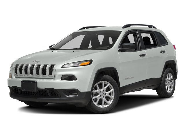 Bright White Clearcoat 2017 Jeep Cherokee Pictures Cherokee Utility 4D Sport 2WD photos front view